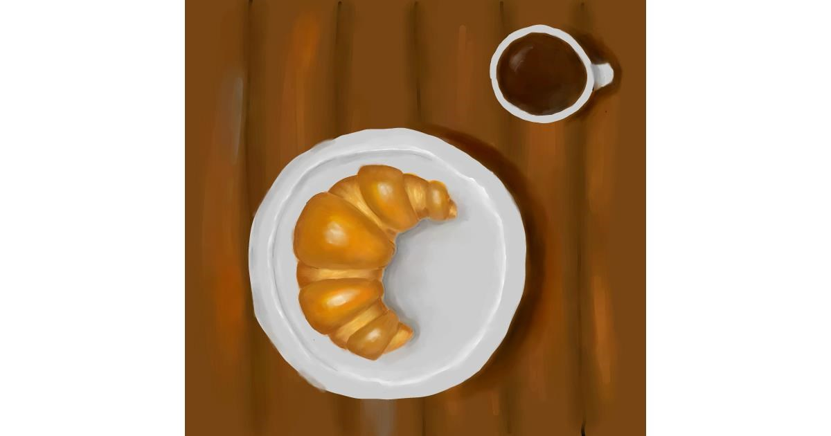 Drawing of Croissant by Andromeda