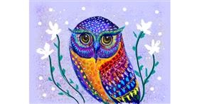Owl drawing by Tara