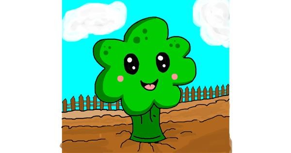 Broccoli drawing by AdiCat