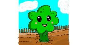 Broccoli drawing by AdiCat