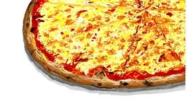 Drawing of Pizza by Sam