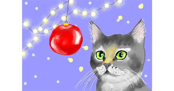 Cat drawing by Debidolittle