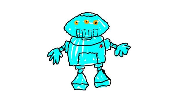 Robot drawing by Anonymous