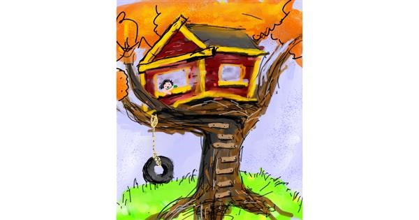 Treehouse drawing by Muni