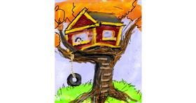 Treehouse drawing by Muni