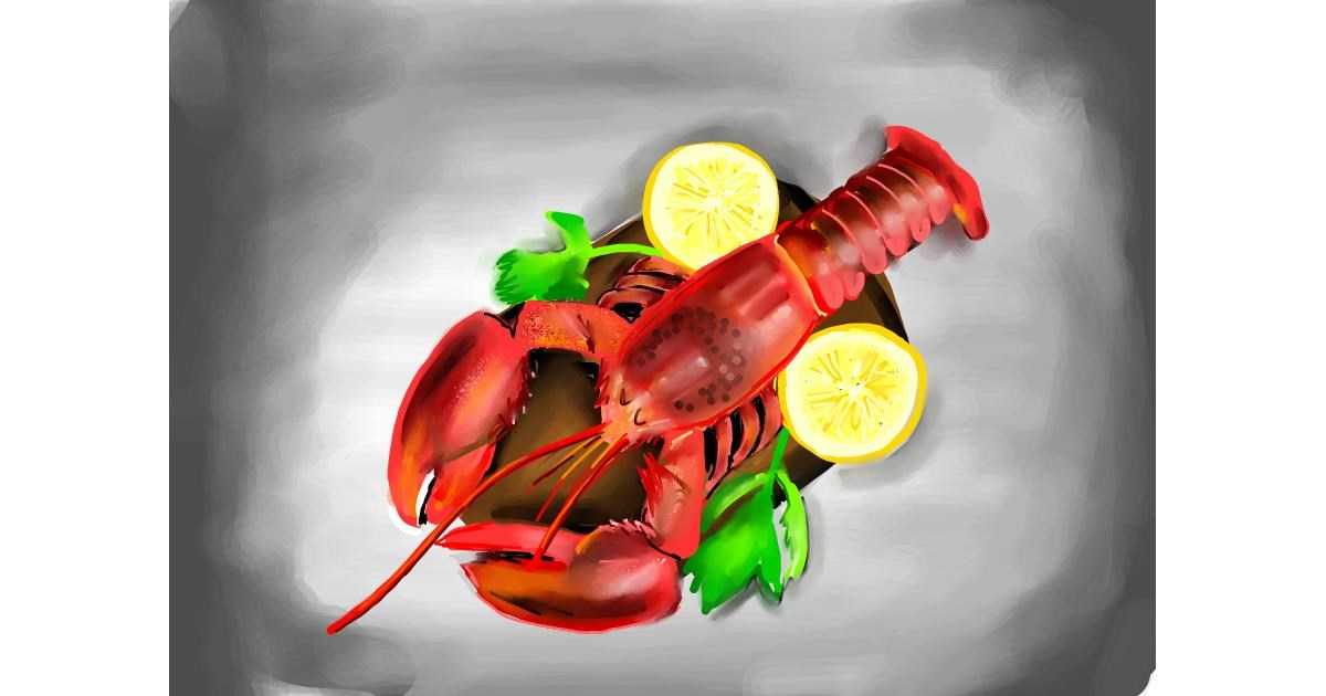 Drawing of Lobster by Rose rocket