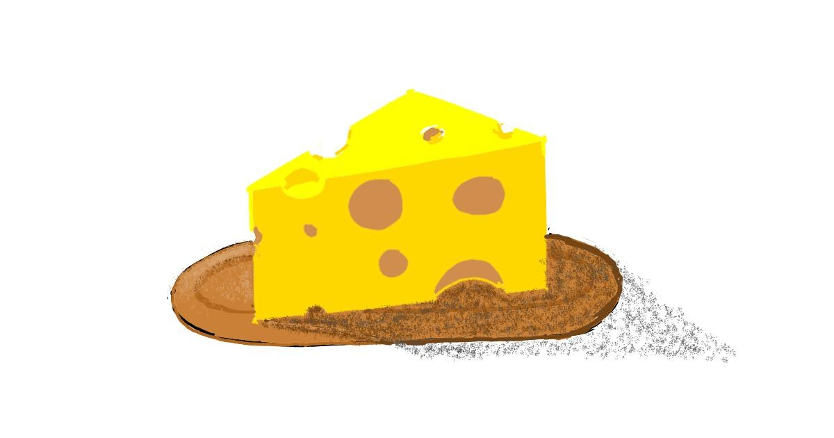 Drawing of Cheese by ThasMe13