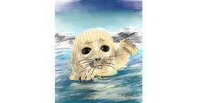 Seal drawing by Muni