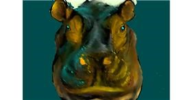 Drawing of Hippo by Dada