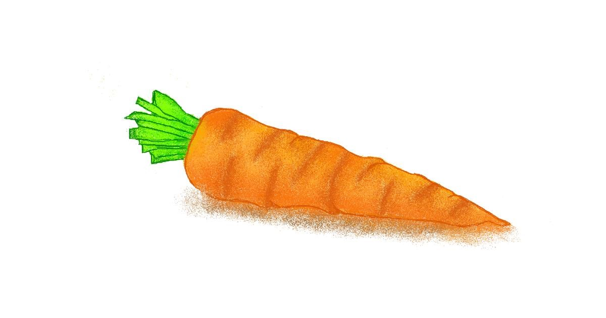 Carrot drawing by Tiny🍒