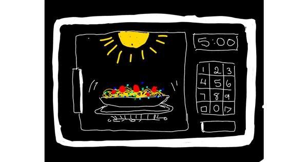 Microwave drawing by Tara