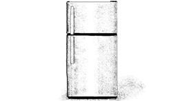 Drawing of Refrigerator by MinecraftGamerLR