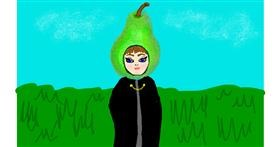 Pear drawing by Trapdoor