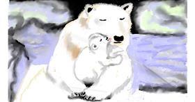 Polar Bear drawing by SAM AKA MARGARET 🙄