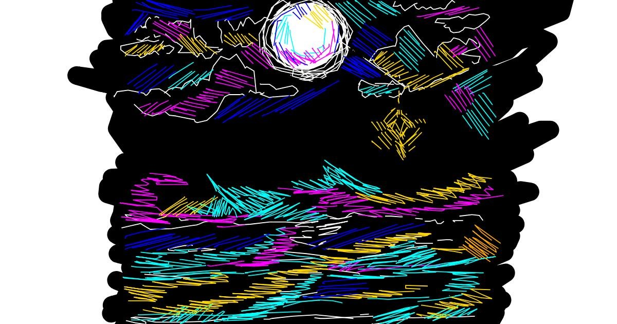 Drawing of Moon by egg