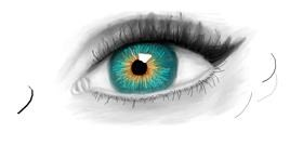 Eyes drawing by Sara