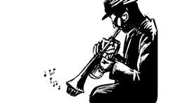 Trumpet drawing by Emit