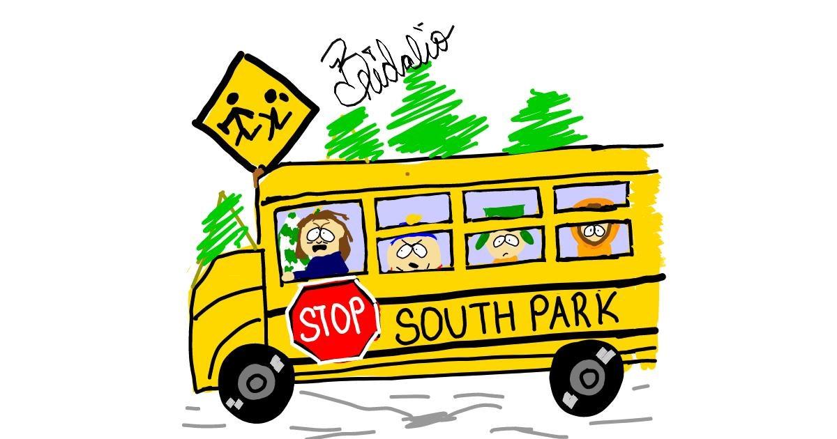 Bus drawing by BRIDALIO🍌