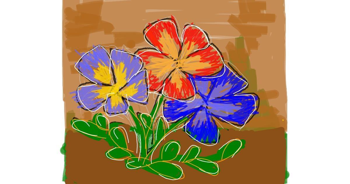 Flower drawing by Bogi11