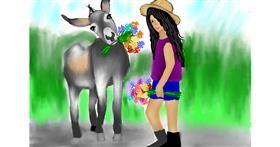 Drawing of Donkey by Lollipop🍭