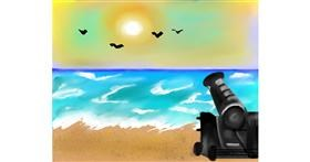 Cannon drawing by Mitzi