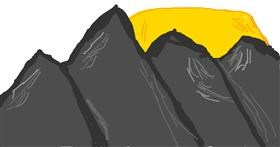 Drawing of Mountain by Corie