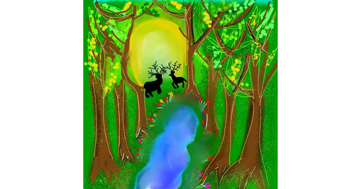 Forest drawing by Dream