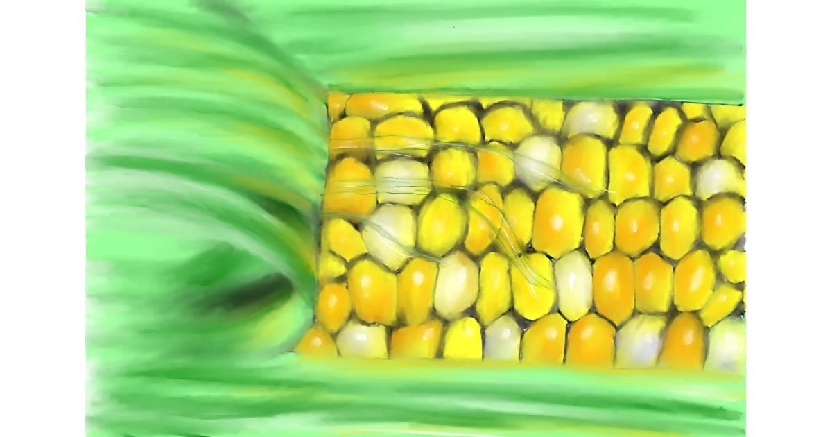Drawing of Corn by Wizard