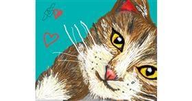 Cat drawing by MRPANDA2
