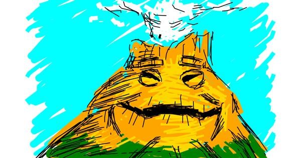 Volcano drawing by Derp