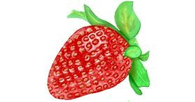 Strawberry drawing by GJP