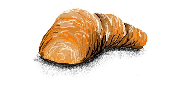 Croissant drawing by Jack536