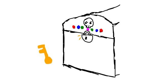 Treasure chest drawing by 🐱