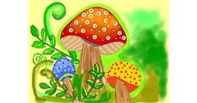 Drawing of Mushroom by Ramisha