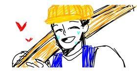 Drawing of Handyman by Moana Liza