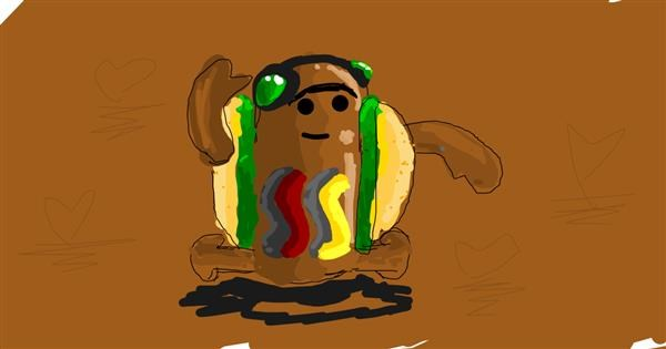 Hotdog drawing by Ur my frnds