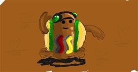 Drawing of Hotdog by Ur my frnds