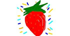 Strawberry drawing by roxy