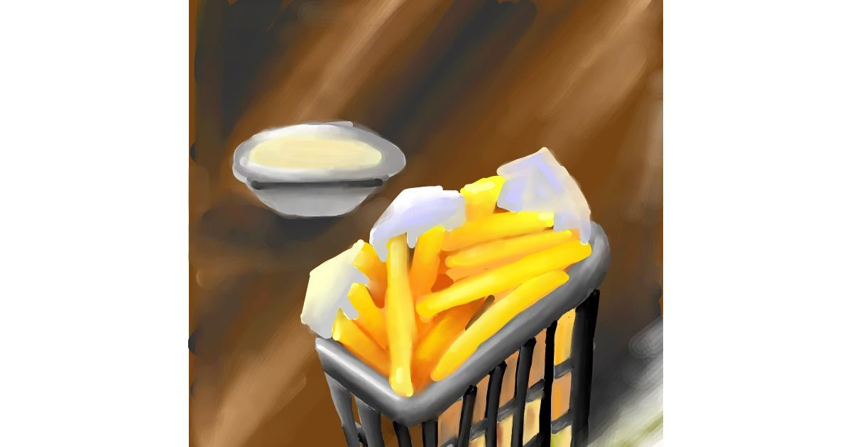 Drawing of French fries by Aastha
