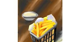 French fries drawing by Aastha