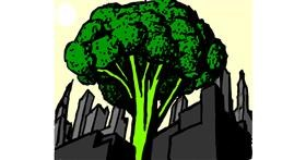 Broccoli drawing by Mari