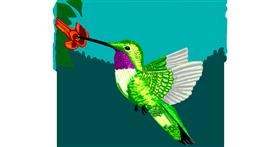 Hummingbird drawing by Geo-Pebbles