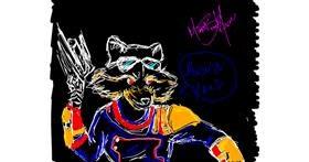 Rocket drawing by MonsterMash