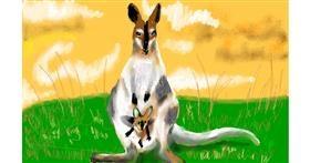 Drawing of Kangaroo by SAM AKA MARGARET 🙄