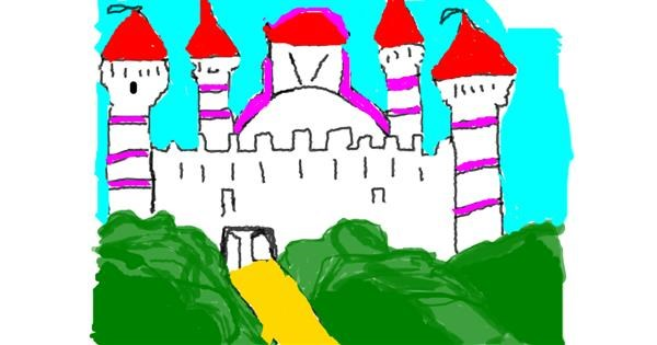 Castle drawing by Anita