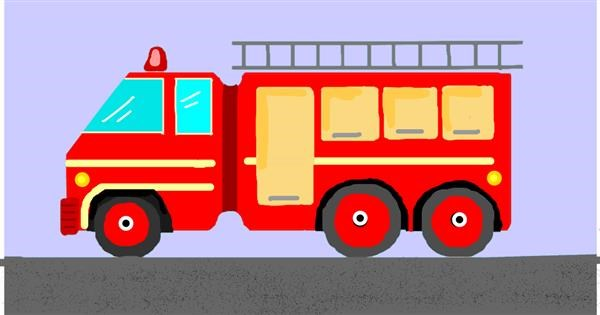 Firetruck drawing by pajama