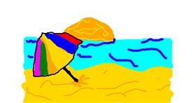 Beach drawing by BlackAmericano