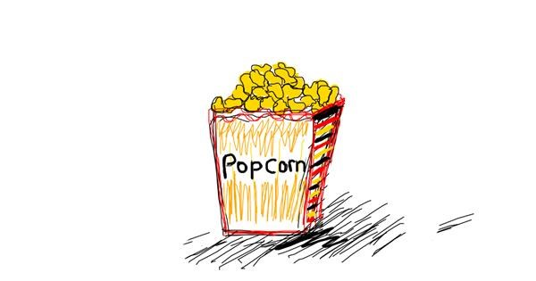 Popcorn drawing by Kitten ;3