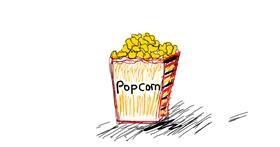 Drawing of Popcorn by Kitten ;3