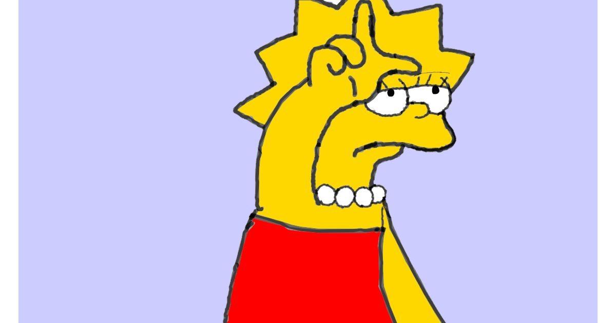 Lisa Simpson drawing by loser eerawn